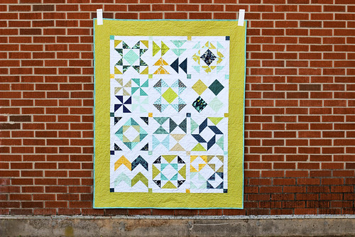 Half-Square Triangle Block of the Month Quilt