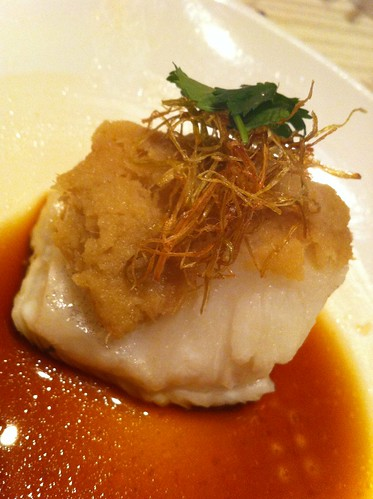 Filet of Steamed Sea Perch with Ginger Puree