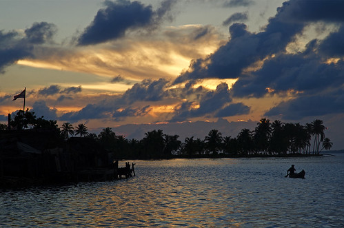 sunset san cloudy panama provincia blas kuna yala comarca indigeni cartì