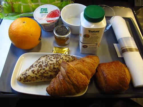 Petit déjeuner dans l'Eurostar