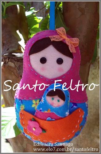 Matrioska Santo Feltro by edilmarasantiago