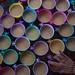 Mid-morning porridge for children in school at Mberra Refugee Camp