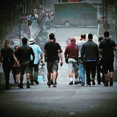 The battle of Livery Street. #readyplayerone #Birmingham #Filming #Crew #Stunt #Cars #Spielberg