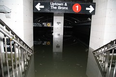 NYC subway station damaged by seawater flooding during Hurricane Sandy