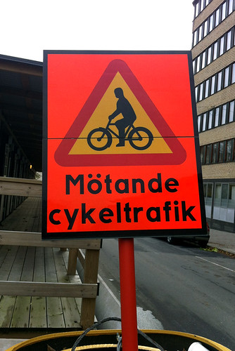 Mötande cykeltrafik