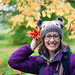 Zoe and her autumn fascinator by Al Power