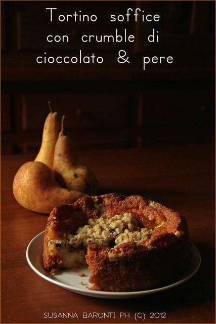tortino al cioccolato e pere