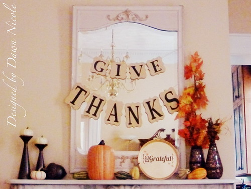 Thanksgiving Mantle
