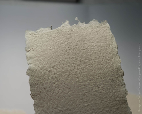 Hand-moulded paper