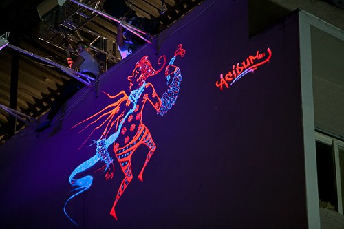 Nightlife graffiti art from Smirnoff