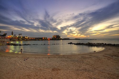 sunset beach night clouds reflections israel nikon sigma wideangle 1020mm spiaggia caesarea d5100