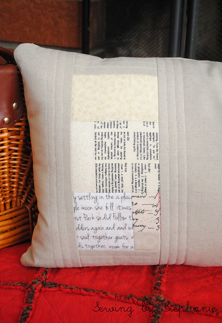 Pillow Talk Swap Round 9: Back of Pillow