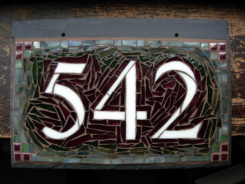 Custom Mosaic House Number 542 by Nutmeg Designs