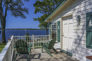 Oceanfront Three Bedroom Cottage deck view
