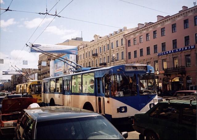 Trolleybuses in Nevsky Prospect