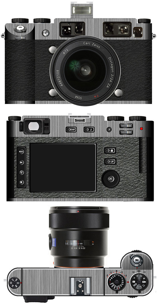 Концепция автофокусной цифровой беззеркальной камеры