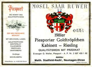 1981 - Piesporter Goldtröpfchen (Mosel)