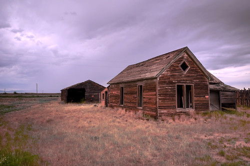 Abandoned ranch - Bosler, Wyoming