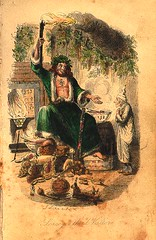 Charles Dickens: A Christmas Carol, plate opposite p.78: the Ghost of Christmas Present