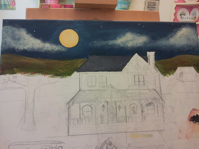 blocking my first painting