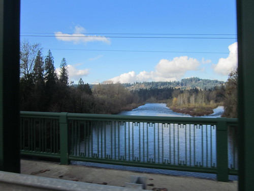 view from the Clackamas River Bridge