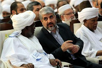 Sudanese officials meeting with Hamas leader Khaled Meshaal in Khartoum at a conference in solidarity with Palestine. The Israeli regime is on the verge of a ground invasion of Gaza. by Pan-African News Wire File Photos