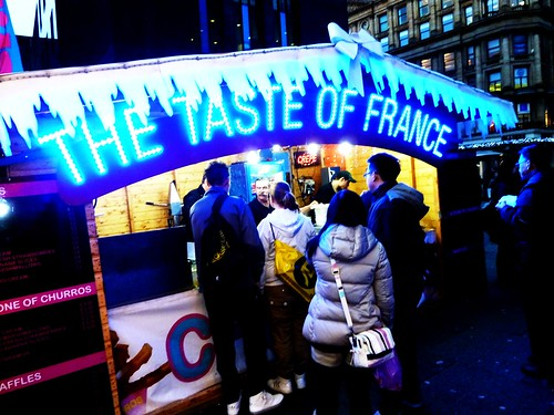 French Food at Glasgow Christmas Market