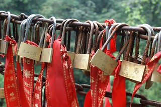 Lucky Lockers in Buddhism Temple
