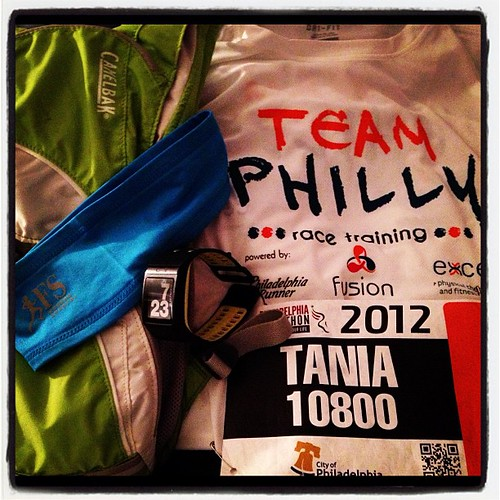 Ready to rock the Philly Marathon.