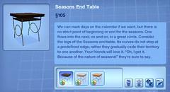Seasons End Table