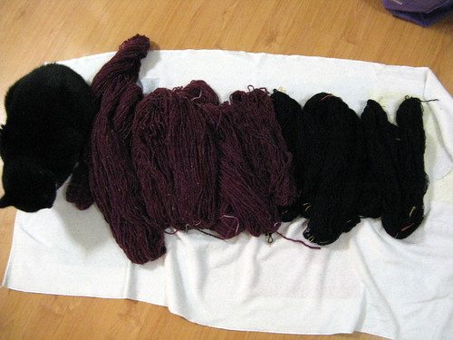 Processing frogged yarn