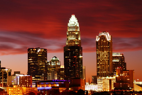 sunset skyline night timelapse downtown charlotte northcarolina existinglight charlottenc queencity fallsky