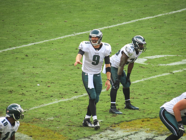 Nick Foles calling a play vs the Redskins from Flickr via Wylio