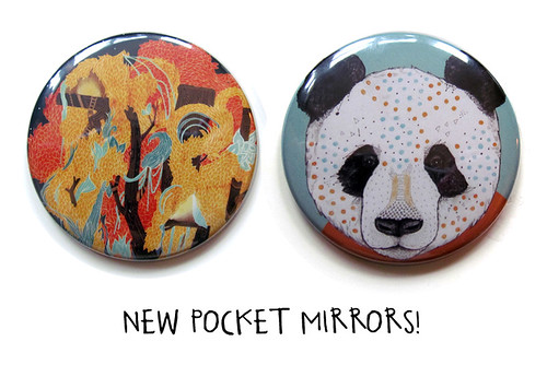 New Pocket Mirrors! by www.sandradieckmann.com