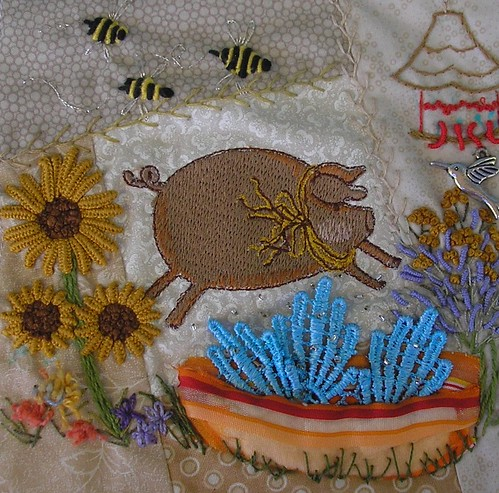 water garden - thearica by Pinyon Creek Stitchin'