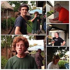 Part of the team in break @richardhall @cyyrusthevirus Billy, Jim, and Susan.