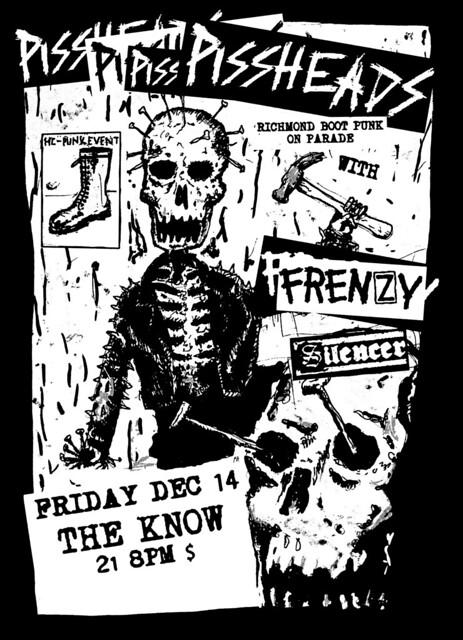 12/14/12 Pissheads/Frenzy/Silencer