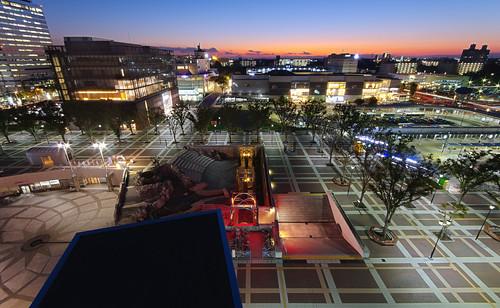 japan night square photography places timeexposure tsukuba つくば市 tsukubacenter ibarakiprefecture lens:maker=sigma shootingtechniques tsukubashi lens:type=1020mmf456exdchsm lens:aperture=4056 lens:focallength=1020