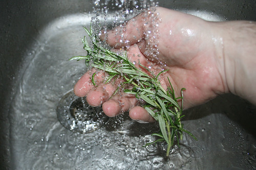 19 - Rosmarin waschen / Wash rosemary