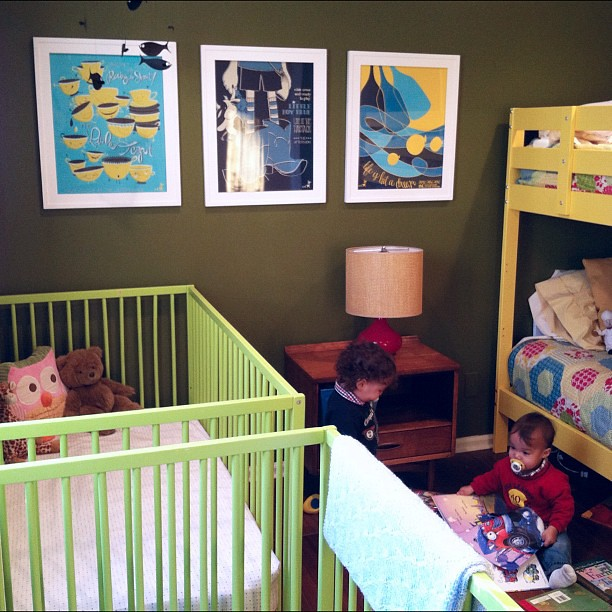 max and miles' nursery with mother goose concert posters