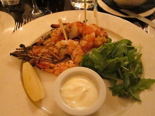 sanctum soho hotel restaurant - prawn starter