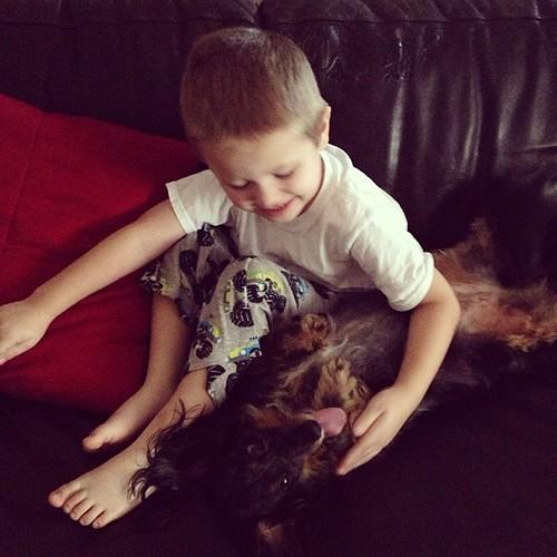 Maya & Zachary: BFFs :) #dogstagram #dachshund #igersftl