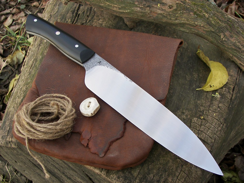 hand forged kitchen knives forged 9 quot chef s knife bladeforums 18005