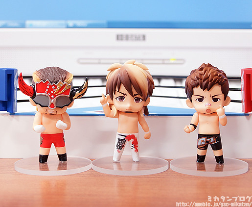 Nendoroid Petit Action Figure Set 3 pieces New Japan Pro Westling