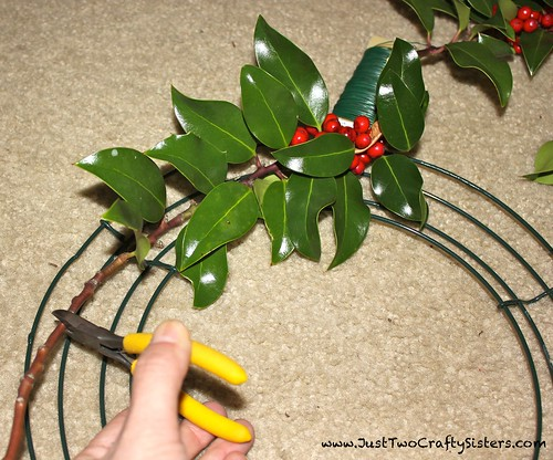 DIY Holly Wreath Tutorial