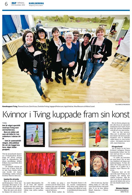 2012-11-26 BLT, Artikel - Vernissage
