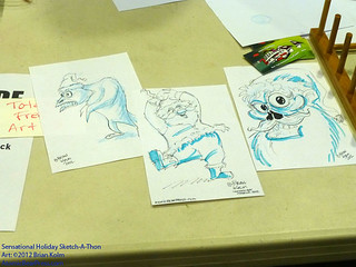 Sensational Holiday Sketch-A-Thon at the Cartoon Art Museum