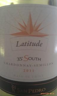 Latitude 35' South Chardonnay Semillon 2011