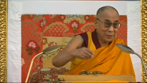 His Holiness the Great 13th Dalai Lama giving instructions, 18 Great Stages of the Path Commentaries, webcast, Dharamasala, India by Wonderlane