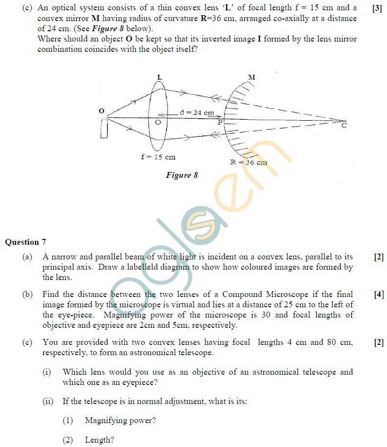 ISC Class 12 Physics Sample Paper
